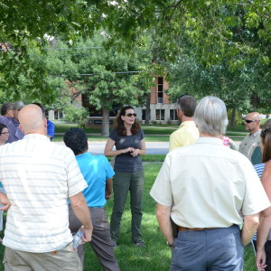 A Boulder Forestry Spokesperson Leads A Tour Of The City's Emerald Ash Borer (EAB) Quarantine Zone. Here, She Stands In Front Of A Row Of Treated Ash Trees, Which Show No Signs Of EAB Infestation.